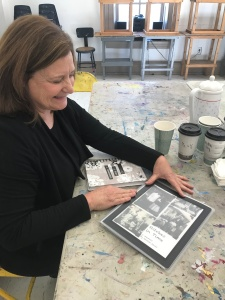 Janice complied her memoir essays and a few family photographs in  time for the last class of the Winter session.