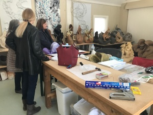 After the last class, we made a visit to Michelle Kalman's studio to see and talk about her glorious clay sculpture. Visit MichelleKalman.com